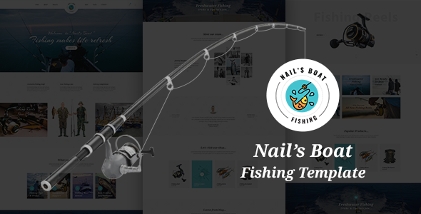 Image of Nails Boat - Fishing and Hunting Club HTML Template