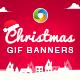 Christmas Sale Animated Gif  Banner Set