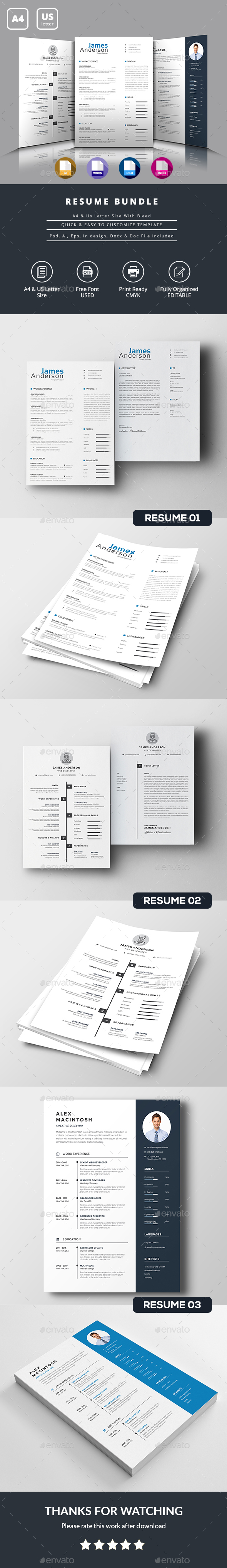 GraphicRiver Resume Bundle 21086579