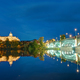 The Cathedral of Salamanca and the river Tormes at night - PhotoDune Item for Sale