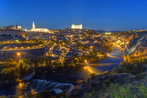 The historic old city of Toledo in Spain - Stock Photo - Images