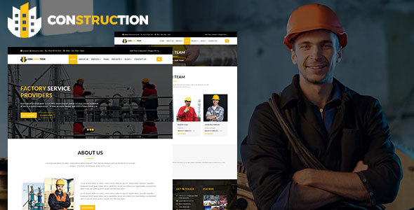 Construction - Factory / Industrial / Construction HTML5 Responsive Template