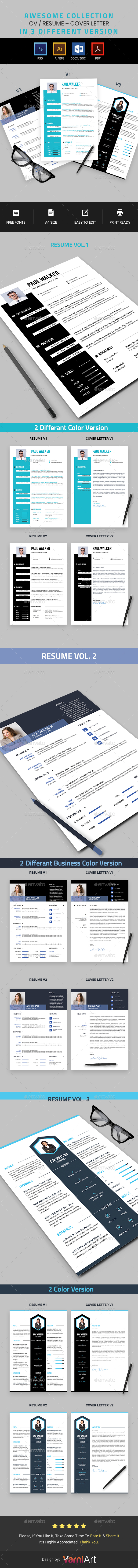 GraphicRiver Resume Bundle 21087032