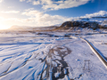 Aerial view of iceland landscape in winter - PhotoDune Item for Sale