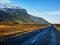 Curve raod to the mountain with motion blur, Iceland - PhotoDune Item for Sale