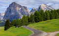 Road to Mt.Langkofel, Seiser Alm, Dolomites, Italy - PhotoDune Item for Sale
