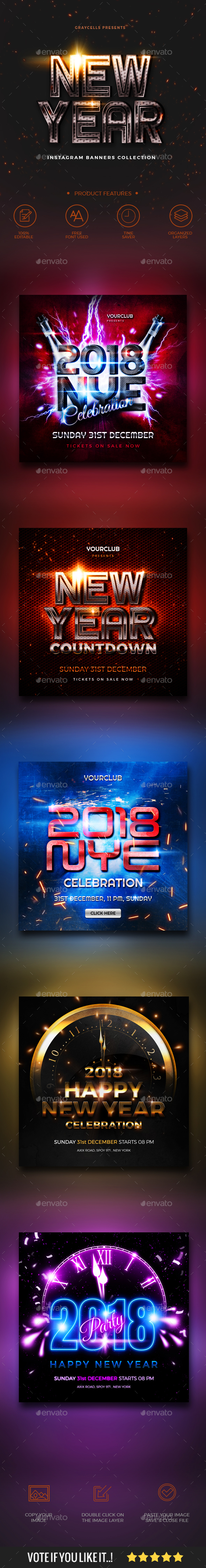 GraphicRiver New Year Instagram Banner 21087049