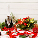 Traditional dishware on Christmas table. - PhotoDune Item for Sale