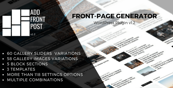 Download Source code              Add Front Post - WordPress Plugin Front-Page Generator            nulled nulled version