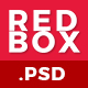Redbox Single Page PSD Web Template