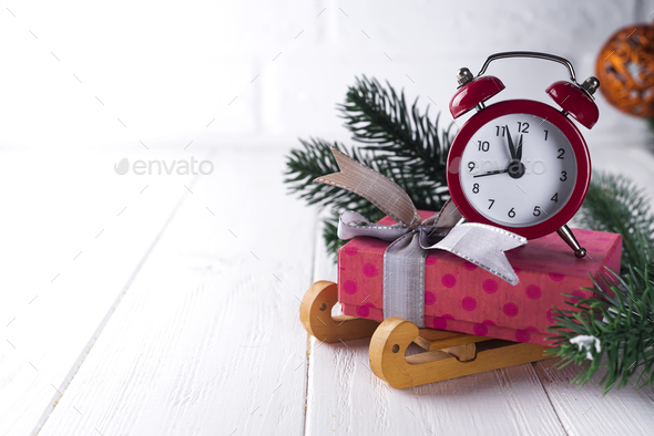 New Year's clock. - Stock Photo - Images