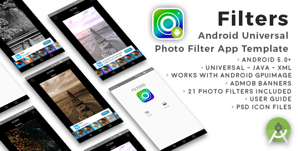 Filters | Android Universal Photo Filters App Template - CodeCanyon Item for Sale