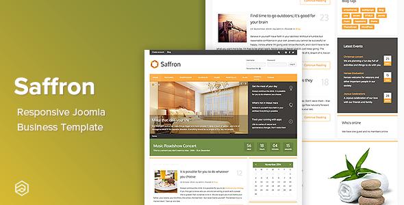 Saffron - Responsive Joomla Business Template - Business Corporate