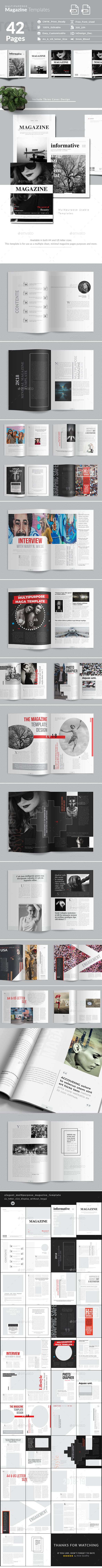 Multipurpose Magazine Template 42 Pages - Magazines Print Templates