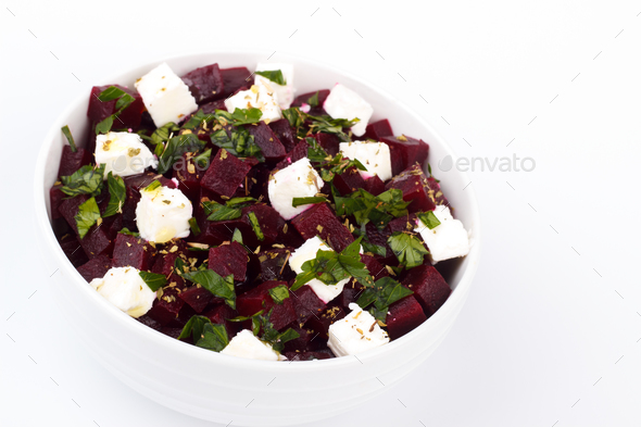 healthy beetroot salad - Stock Photo - Images