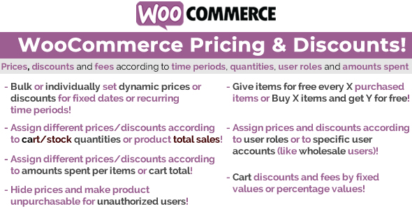 WooCommerce Pricing & Discounts! - CodeCanyon Item for Sale