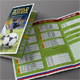 Russia 2018 Soccer Cup Schedule 3-Fold Brochure - GraphicRiver Item for Sale
