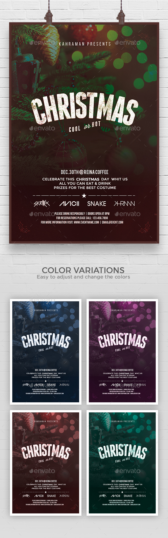 GraphicRiver Christmas Flyer Template 21087670