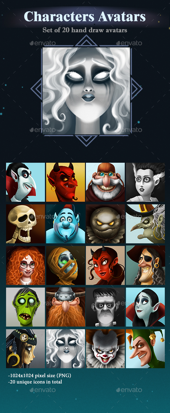 GraphicRiver Characters Avatars 21087677