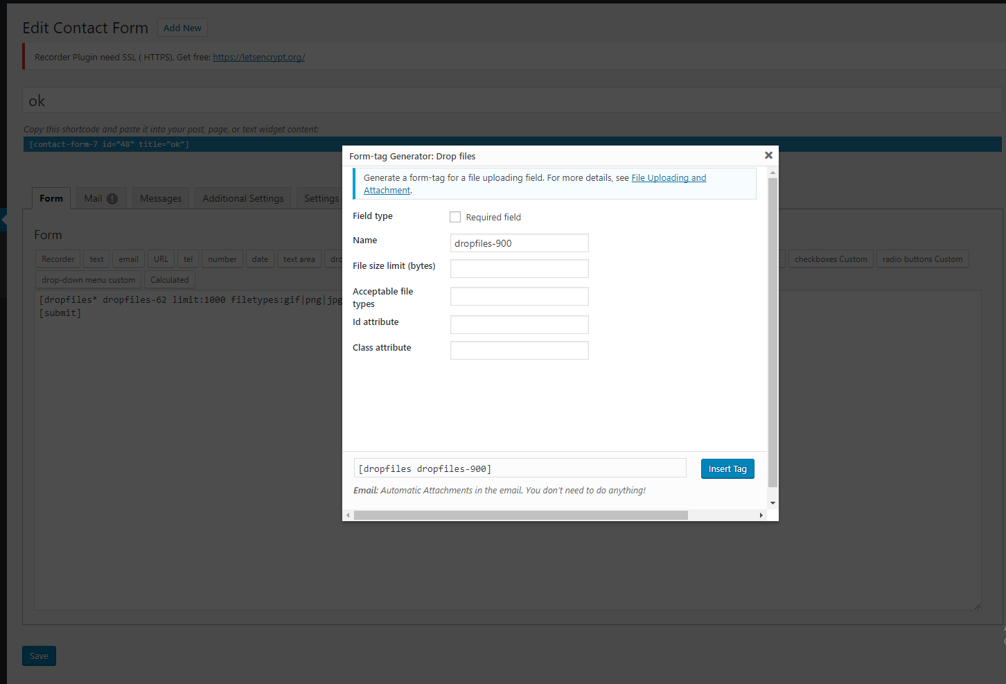Contact Form 7 Drag and Drop FIles Upload - Multiple Files Upload by ...