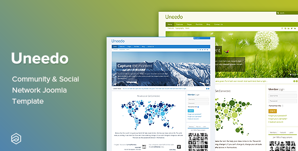 Uneedo - Responsive Community & Social Network Joomla Template - Joomla CMS Themes
