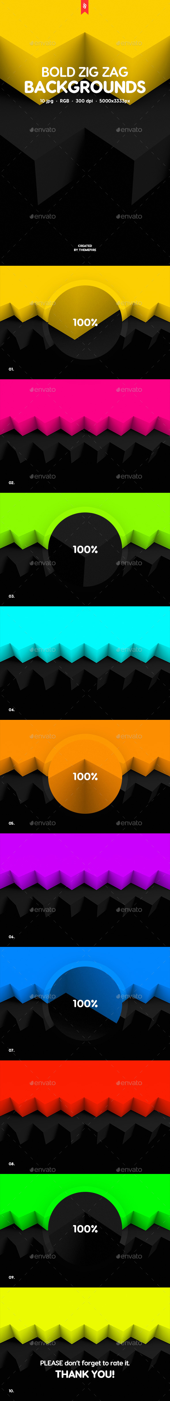 GraphicRiver Bold Zig Zag Backgrounds 21087918