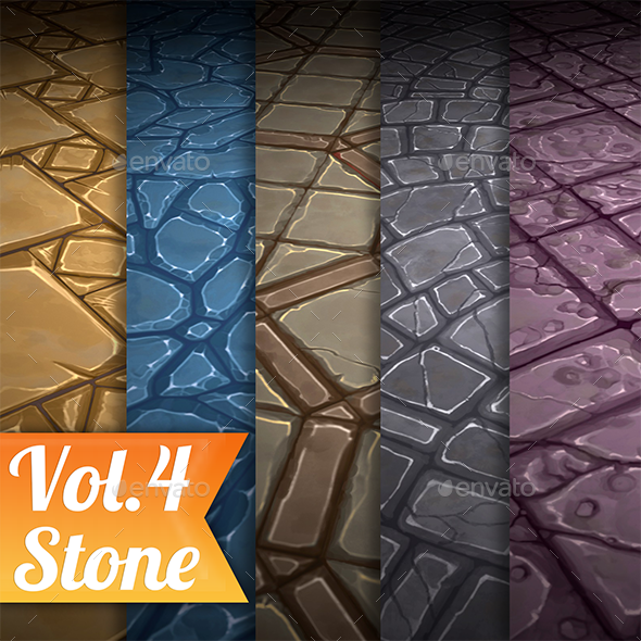 3DOcean Stone Tile Vol.4 Hand Painted Texture Pack 21087937
