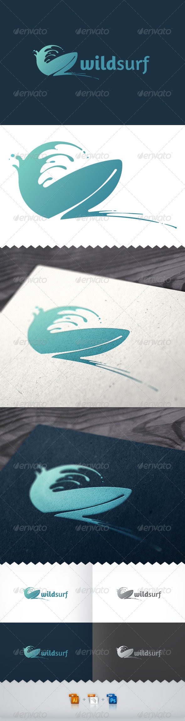 Wild Surf Tour Logo - Objects Logo Templates