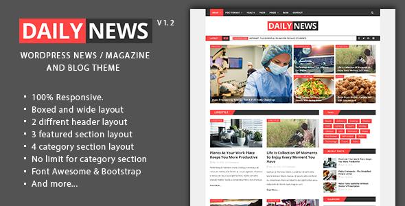 Daily News - WordPress News / Magazine And Blog Theme - News / Editorial Blog / Magazine