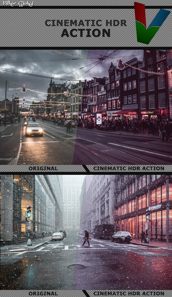 Cinematic HDR Action - Photo Effects Actions