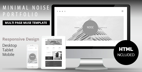 Minimal Noise Portfolio Muse Template - Creative Muse Templates