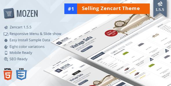 Mozen – Responsive Zencart Template - Zen Cart eCommerce