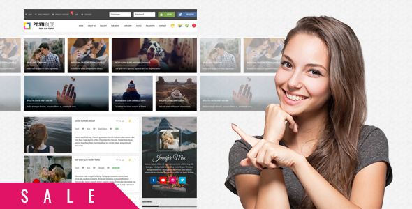 Image of Posti - Responsive Blog HTML Template