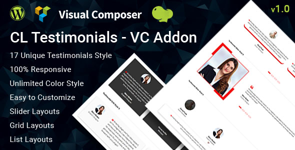 CodeCanyon CL Testimonial Testimonials Add-on for Visual Composer 21088174