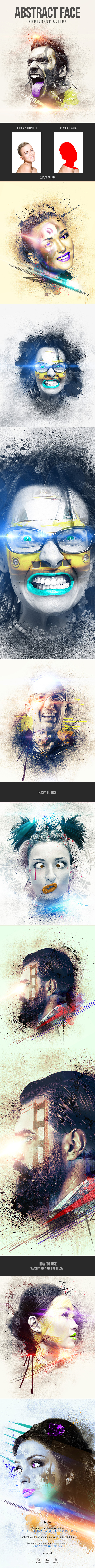 GraphicRiver Abstract Face Photoshop Action 21088175