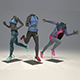 Female mannequin Nike pack 4 3D model