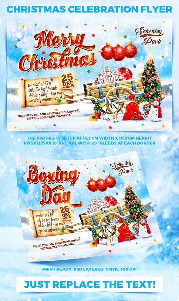 GraphicRiver Christmas Celebration Party Flyer vol.1 21088462