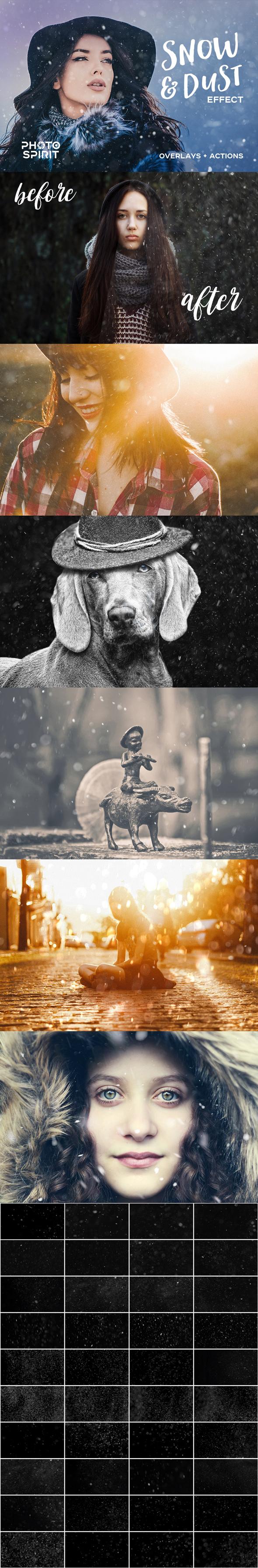 GraphicRiver Snow & Dust Effect Photoshop 21088565