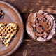 Belgian heart shaped waffle - PhotoDune Item for Sale