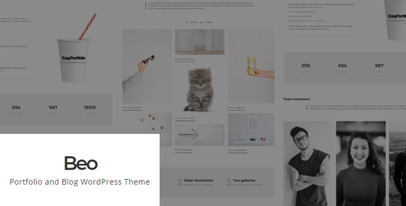 ThemeForest Beo Portfolio and Blog WordPress Theme 20840970