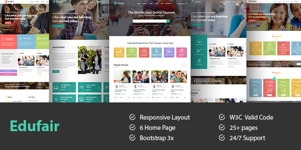 Edufair- Multipurpose HTML Template For Education - Miscellaneous Site Templates
