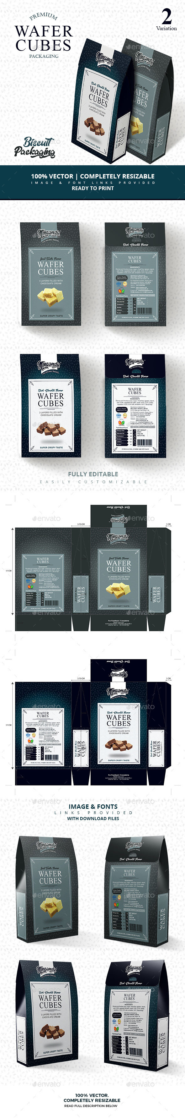 GraphicRiver Premium wafer cubes packaging 21079927