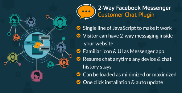 CodeCanyon 2-Way Facebook Messenger Customer Chat Plugin for Your Website A FB Inboxer Add-on 21088779