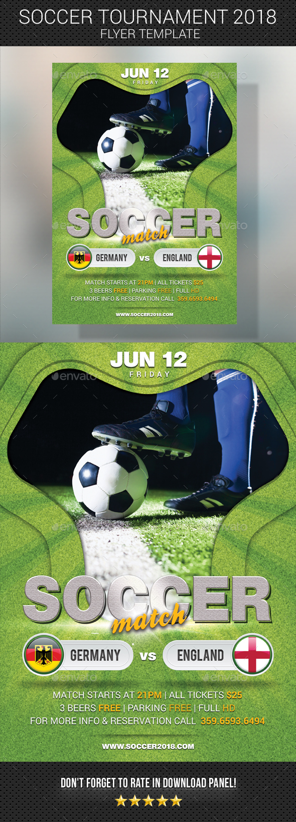 World Soccer Cup Russia 2018 Flyer - Sports Events