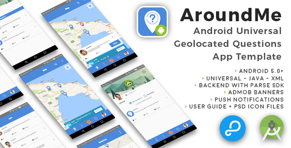 AroundMe | Android Universal Geolocation Questions App Template - CodeCanyon Item for Sale
