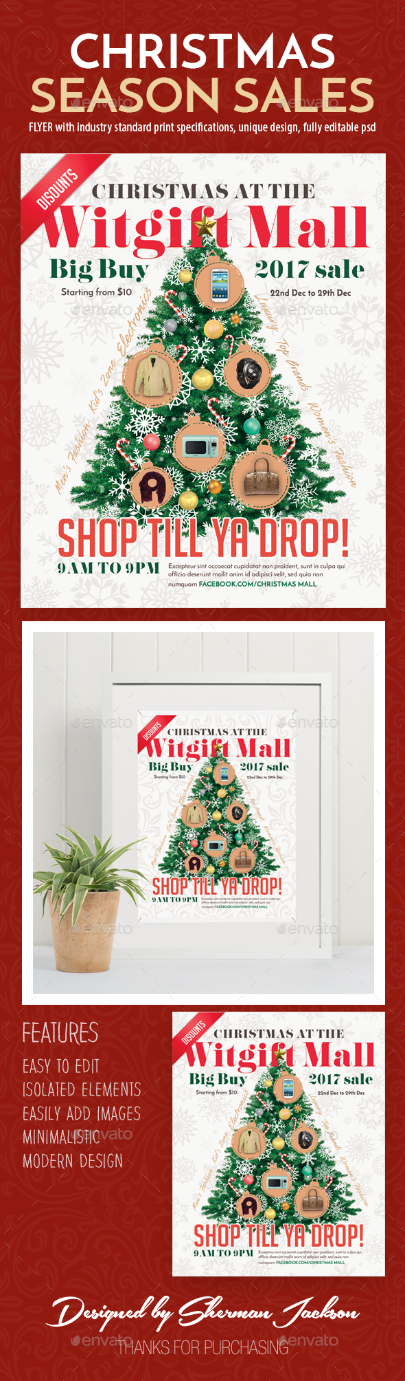 GraphicRiver Christmas Season Sales Flyer 21088905