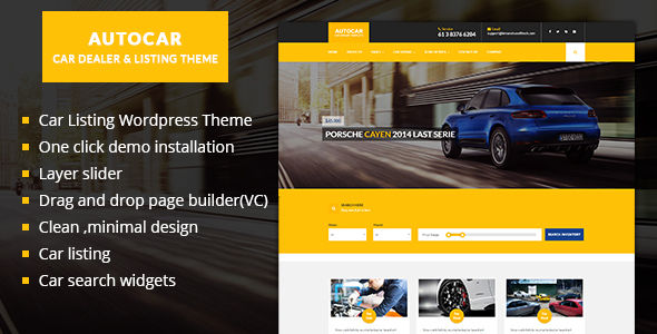 Car Dealer WordPress Theme - Auto Car - Directory & Listings Corporate