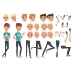 Young Man Character Constructor with Body Parts - GraphicRiver Item for Sale