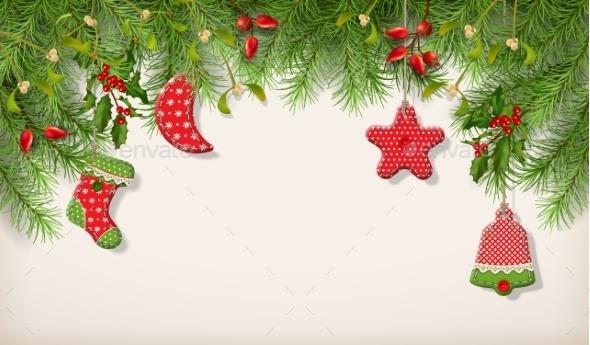 GraphicRiver Christmas Spruce Border 21089037
