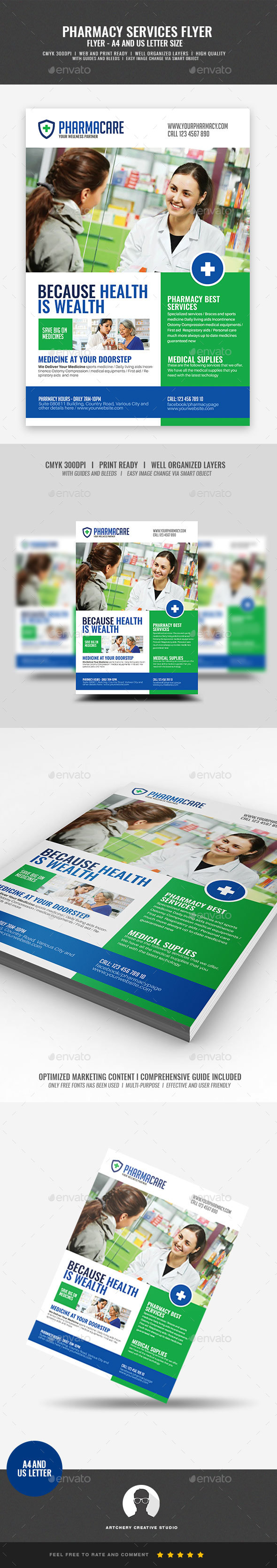GraphicRiver Medical Pharmacy Flyer 21089046